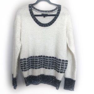 i Jeans by Buffalo fuzzy sparkle sweater!